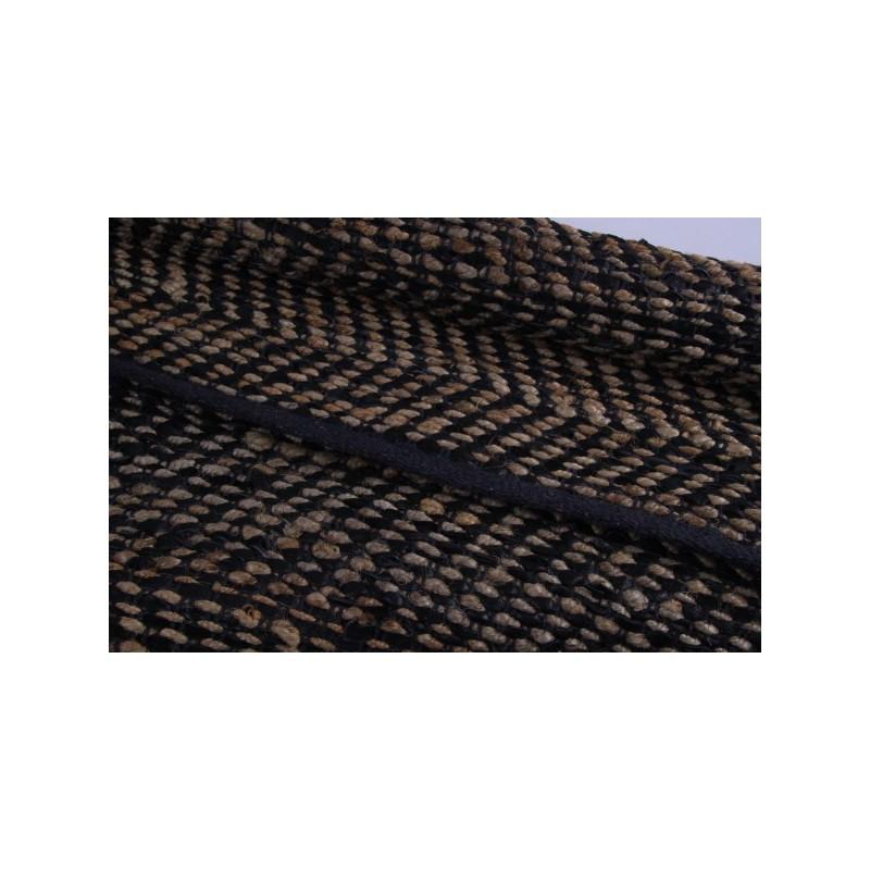 Vloerkleed leder met jute handwerk   Saffrane