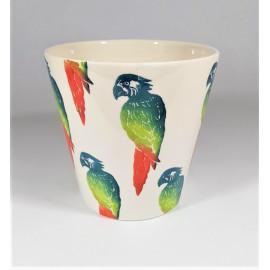 deco bloempot papegaai S