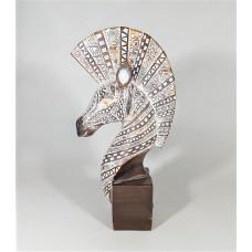 Zebra head deco