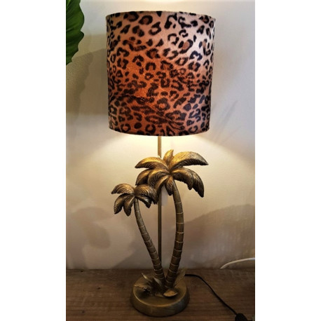 table lamp palm/leopard