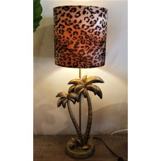 Tafellamp palm / leopard