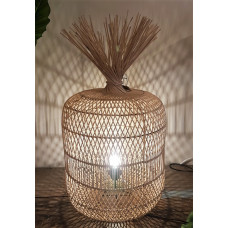 Lamp rotan naturel cilinder