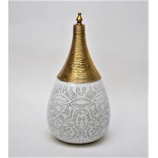 Filigrain tafellamp metaal white gold