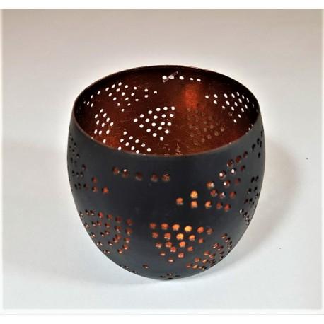 Waxinehouders filigrain black copper