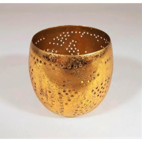 candle holder filigrain gold
