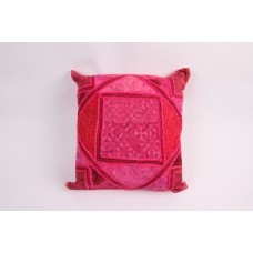 Pillow patchwork multi pink