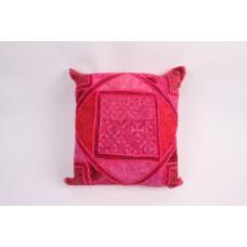 sierkussen met rose patchwork