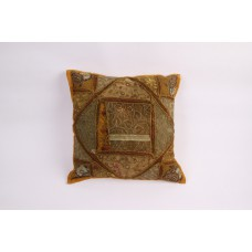 Pillow patchwork multi brown