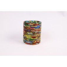 Votive glass multi colour bangles