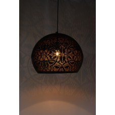 Hanging Lamp Filigree black/gold XL