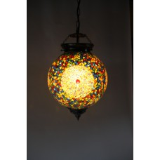 Hanging Lamp Mosaic Multicolour Turkish design beads and triangles