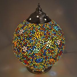 Tafellamp Mozaïek Bloem motief