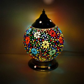 Table light Mosaic Flower design small version