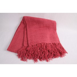Throw boho plain pink