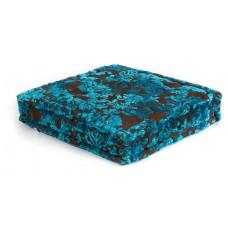Vloerkussen patchwork turquoise