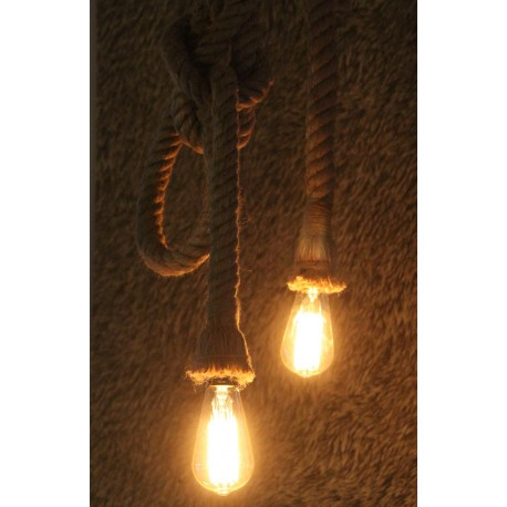 Hanglamp Met Touw.Hanglamp Touw Retro Industrieel Vintage Manilla Touwlamp 2 Mtr
