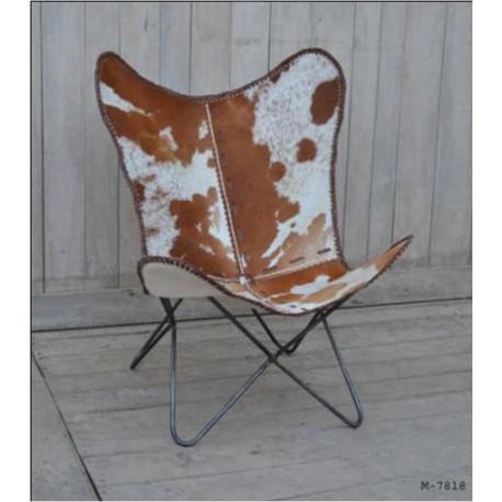Vlinderstoel cowskin