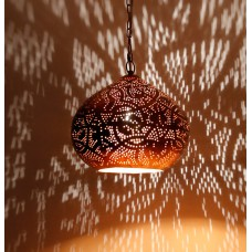 Filigrain hanging lamp matt black/gold