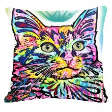 Kussen kat psychedelic 5