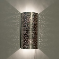Filigrain wall lamp silver