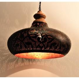 Filigrain hanglamp metaal-hout