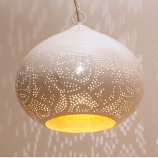 Filigrain hanging lamp white/gold