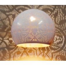 Filigrain hanglamp bol wit/goud