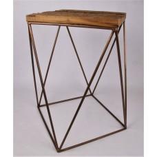 koffietafeltje hout-metaal