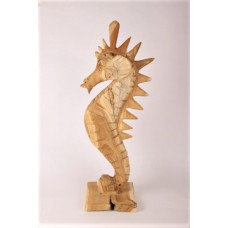 Statue seahorse wood