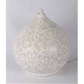 Filigrain tablelamp white-gold
