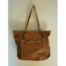 Shopper tas brown leder