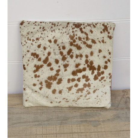 Cow skin pillow