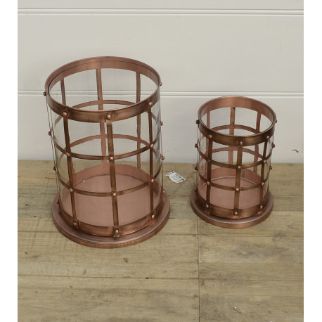 Candle holder set copper