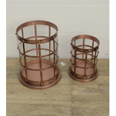 Candle holder set copper
