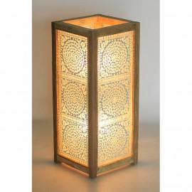 Vloerlamp mozaïek wit transparant