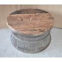 Coffee table vintage wood-metal