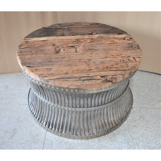 Coffee table vintage wood-metal