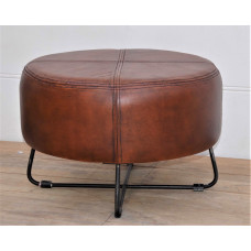 Hocker leather-metal