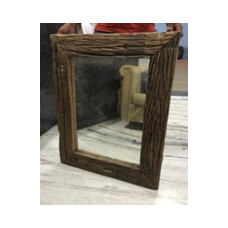 mirror with wood