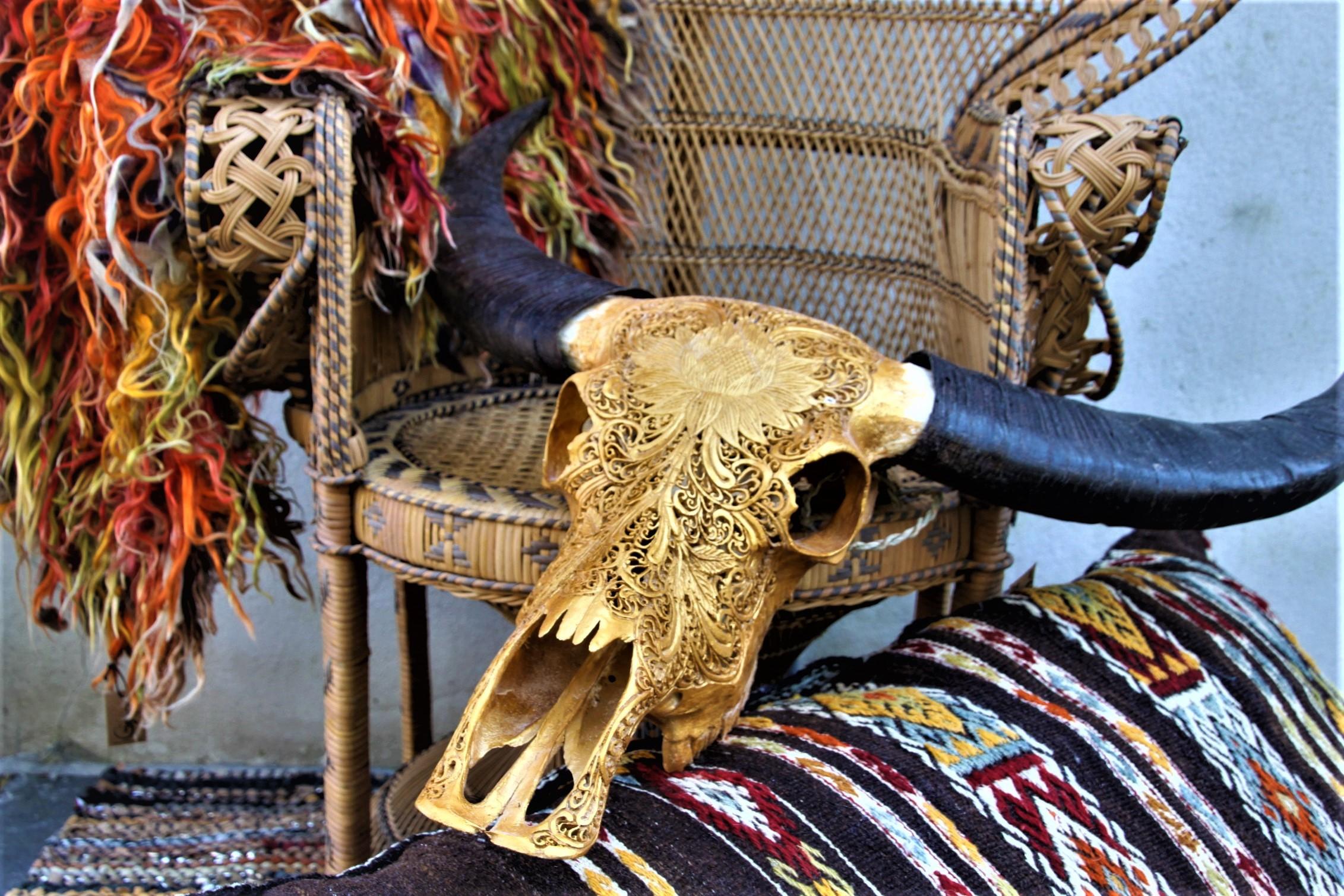 carved buffalo